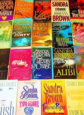 SANDRA BROWN Lot of 19 -PAPERBACKS/FICTION -French Silk, Exclusive, Fat Tuesday