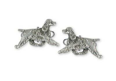 Springer Spaniel Cufflinks Jewelry Sterling Silver Handmade Dog Cufflinks SS8-CL