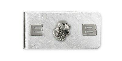 Springer Spaniel Money Clip Jewelry Sterling Silver Handmade Dog Money Clip SS6S