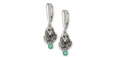 Springer Spaniel Earrings Jewelry Sterling Silver Handmade Dog Earrings SS4-SE