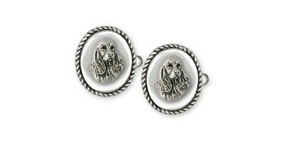 Springer Spaniel Cufflinks Jewelry Sterling Silver Handmade Dog Cufflinks SS4-CL