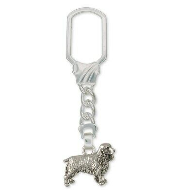 Springer Spaniel Key Ring Jewelry Sterling Silver Handmade Dog Key Ring SS3-KR