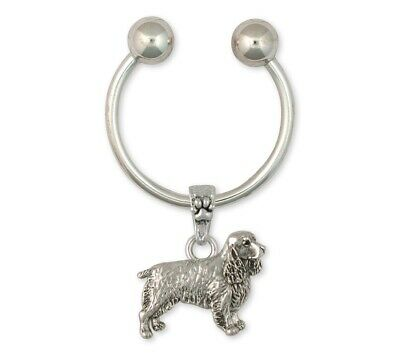 Springer Spaniel Key Ring Jewelry Sterling Silver Handmade Dog Key Ring SS3-K