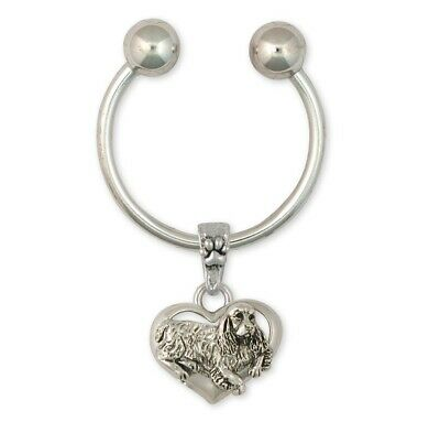 Springer Spaniel Key Ring Jewelry Sterling Silver Handmade Dog Key Ring SS2-KR
