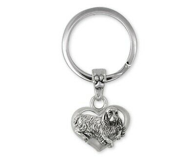 Springer Spaniel Key Ring Jewelry Sterling Silver Handmade Dog Key Ring SS2-K