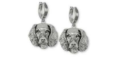 Springer Spaniel Earrings Jewelry Sterling Silver Handmade Dog Earrings SPS-E