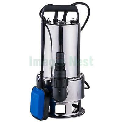 1.5HP Submersible Stainless Steel 4300GPH Dirty Water Pump Pool Pond Flood Drain