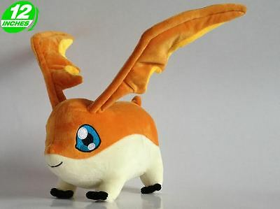 High 12'' 30CM Patamon Plush Digimon Adventure Stuffed Digital Monsters DAPL8004