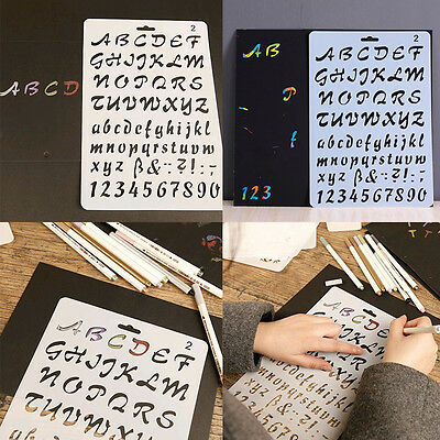 2017 Masking Spray Painting Embossing Alphabet Number Letter Layering Stencils