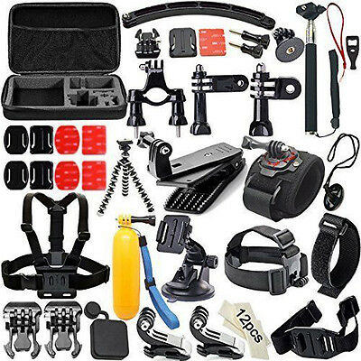 Soft 53 in 1 Action Camera Accessories Bundle Kits for GoPro Hero 4 3+ 3 SJCAM