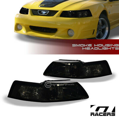 For 1999-2004 Ford Mustang Smoke Clear Housing Headlights Corner Signal Lamps Nb