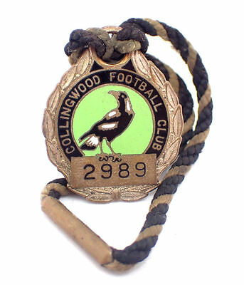 Collingwood Football Club 1963 Members Enamel Badge - #2989