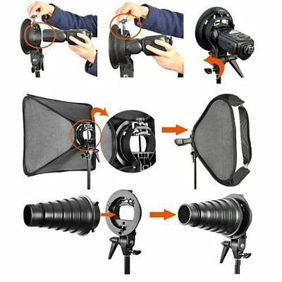 Neewer  80x80cm Softbox con Flash  S-Tipo Soporte Mount y Estuche de transporte