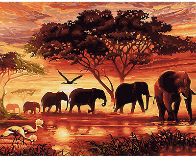 Paint By Number Kit Animal Paradise Continent Serengetland DIY Painting PZ7029