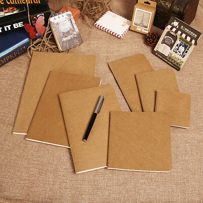 Cowhide Paper Vintage Cover Travel Journal Notebook Blank Notepad Offce Supply