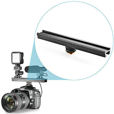 "Neewer Aluminium Alloy 8""/20cm Extension bar with Cold Shoe for Nikon Canon"