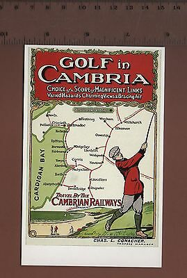 #DAL2/#362 Golf In Cambria - Railway Golfing Posters Postcard