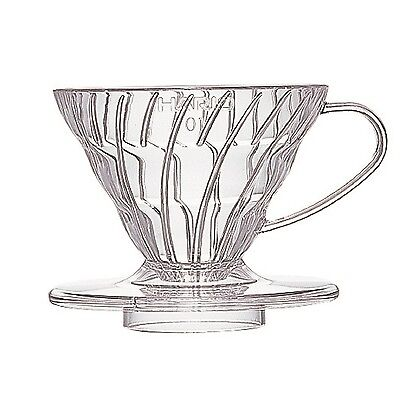 Hario VD-01T 1-Piece Plastic Coffee Dripper Clear Size 01