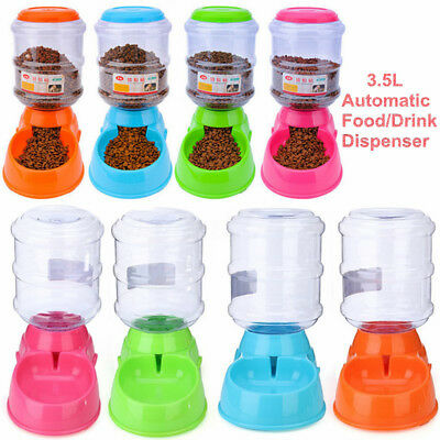 3.5L Pet Dog Cat Automatic Water Dispenser Feeder Bowl Bottle Food Device Dish