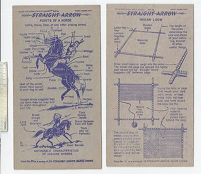 #33 Lot of 6 Diff 1949 NABISCO INJUN-UITY Cards Book #1 Cereal Straight Arrow