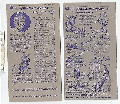 #38 Lot of 6 1950 NABISCO INJUN-UITY Cards Book #2 Cereal Straight Arrow Native