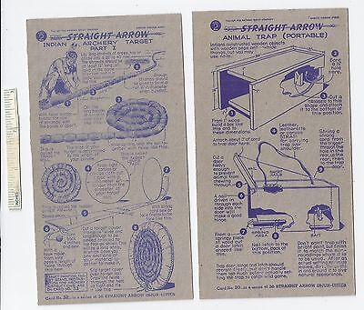 #17 Lot of 6 Diff 1950 NABISCO INJUN-UITY Cards Book #2 Cereal Straight Arrow