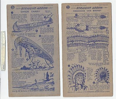 #24 Lot of 6 Diff 1950 NABISCO INJUN-UITY Cards Book #2 Cereal Straight Arrow