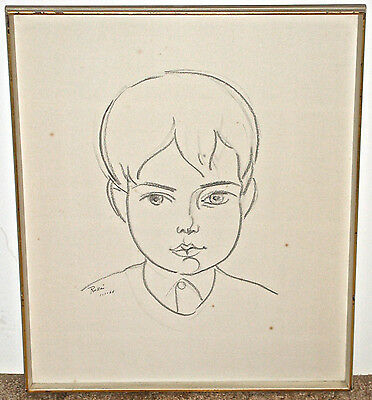Robert Russin Portrait of Young Boy