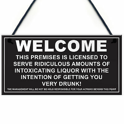 MAN CAVE LICENSED LICENSEE Drinking Hanging Plaque Funny Pub BAR Sign BBQ PARTY