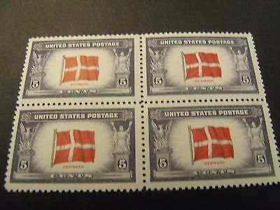US Postage Stamps 1943 OVERRUN COUNTRIES Denmark Scott 920 4- 5 Cent