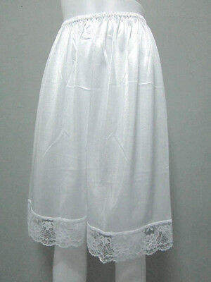 Vintage Silky Nylon Petticoat Women's Panties French Knickers Lingerie #L White