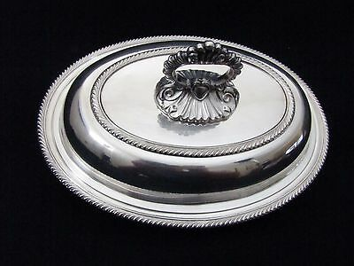 Antique Silverplate Covered Vegetable Dish Removable Handle Primrose Plate BIRKS
