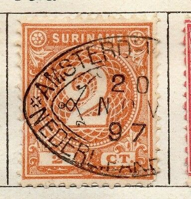 Surinam 1891 Early Issue Fine Used 2c. 154046