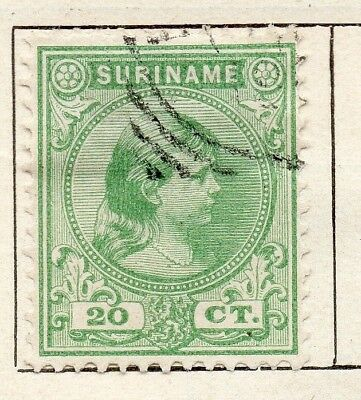 Surinam 1893 Early Issue Fine Used 20c. 154052