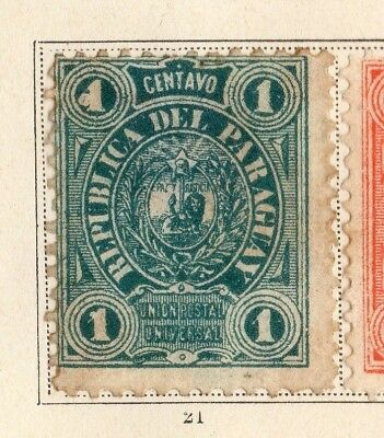 Paraguay 1884 Early Issue Fine Mint Hinged 1c. 154098