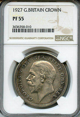 Great Britain 1927 King George V Crown Proof Ngc-Proof-55.