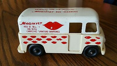 Very Rare 1950's 60's Advertising Magikist Rug Cleaners Delivery Van Bank
