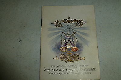 IOOF Missouri Grand Lodge 1908 program Annual Session ads/fraternal organization
