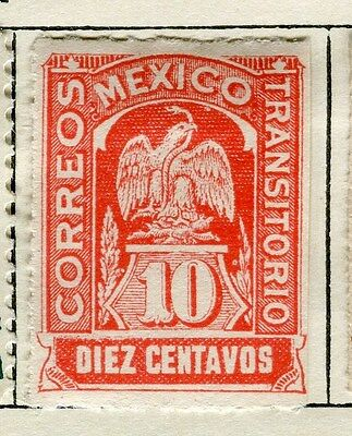MEXICO;  1914 early Transitorio issue Mint hinged 10c. value