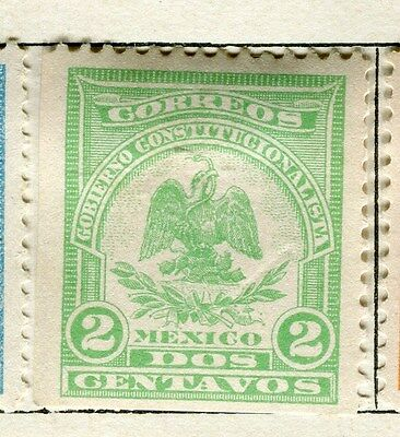 MEXICO;  1914 early Denver issue Mint hinged 2c. value