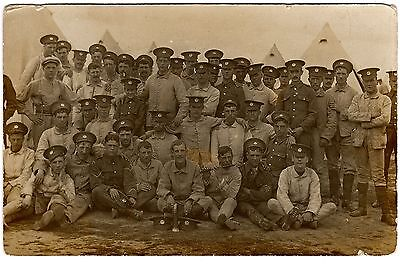 Postcard Photo-British Soldiers At Curragh Camp-Bugle & Flute-Co. Kildare 1909