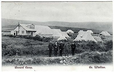 Postcard Military Men-Donard British Army Camp-Donard-Co.wicklow-Ireland 1906