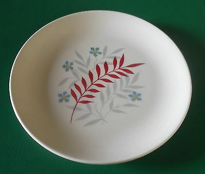 WADE SIDE PLATES x 3 RARE WOODMIST RED PATTERN