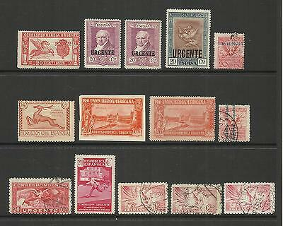 Spain Espana ~ 19 Urgente Express Stamps (Small Collection)