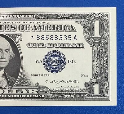 1957A $1 Blue Choice XF SILVER Certificate *** STAR *** X335 Old US Paper Money