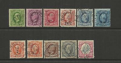 Sweden Sverige ~ 1891-1911  King Oscar Ii ~ Definitives (Postally Used)