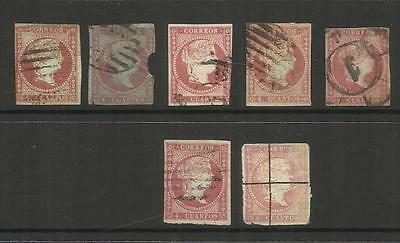 ESPANA SPAIN  ~ 1855+ QUEEN ISABELLA II ~ 4c RED USED