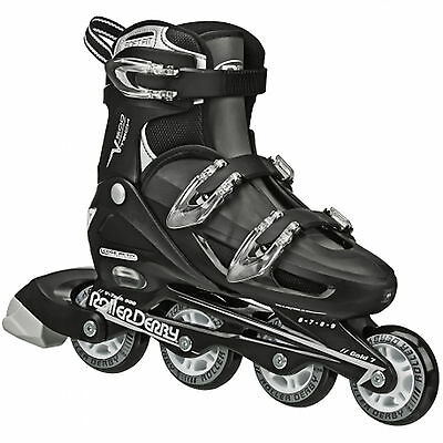 Roller Derby V-Tech 500 Adjustable Mens Black White Large 6-9 NEW