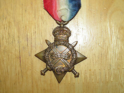 WW1  British  Medal 1914-1915 Star named Grenadier Guards