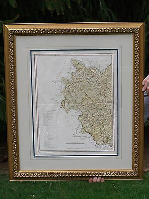Original 1800's Hand Colored England Map J. Duncan Publisher Paternoster Row